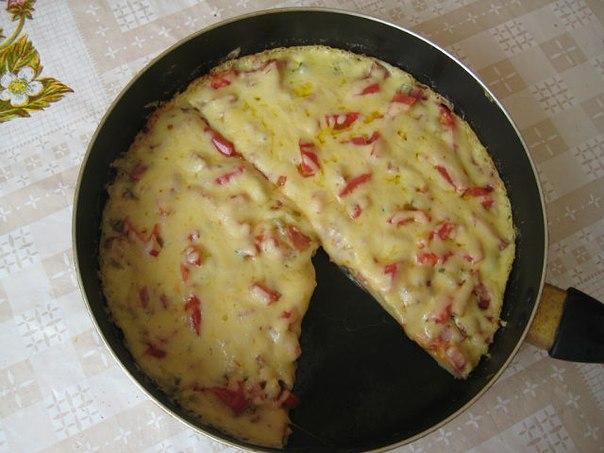 Пицца на сковороде рецепт без сметаны пошагово