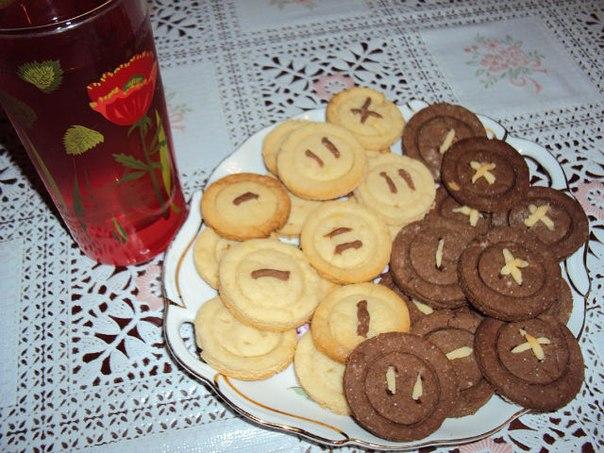 Печенье пуговки пошаговый рецепт с фото