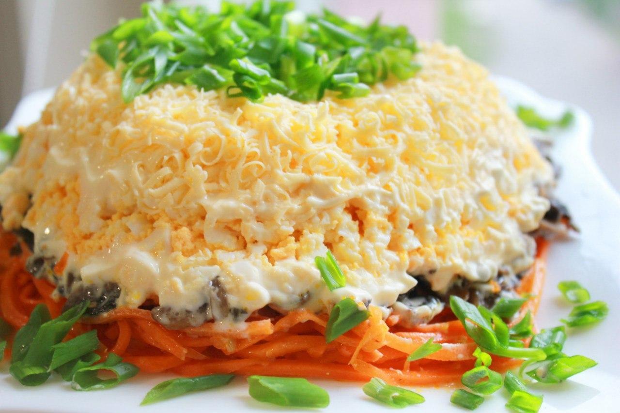 Салаты с говядиной рецепты простые и вкусные слоеные